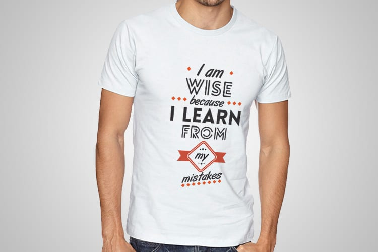 Wise Mistakes Printed T-Shirt