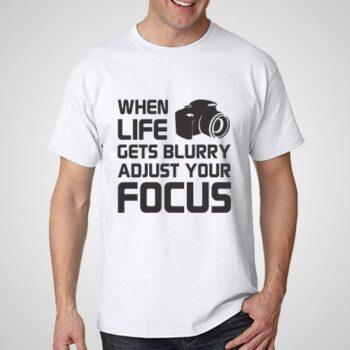 Adjust Your Focus Printed T-Shirt