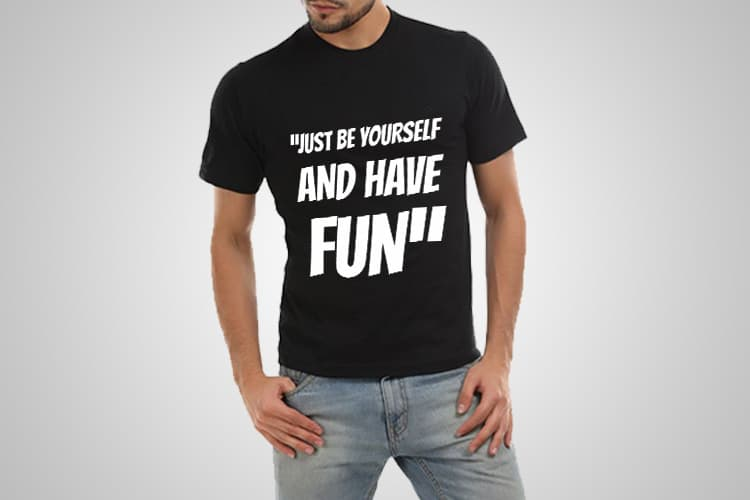 Be Yourself Printed T-Shirt