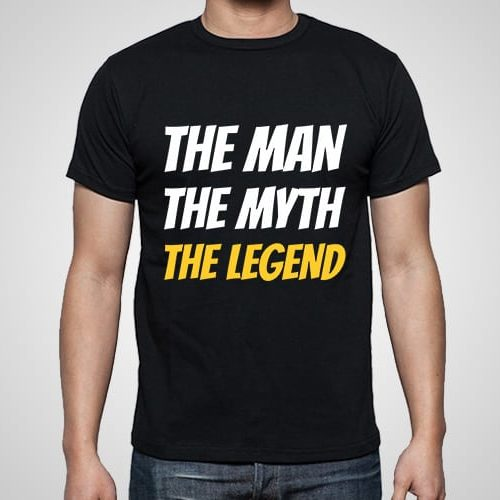 Man Myth Legend Printed T-Shirt