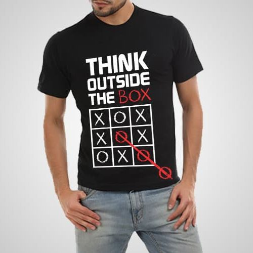 Think Outside The Box Printed T-Shirt