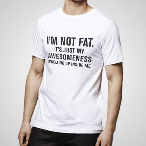 Awesomeness Swelling Up Printed T-Shirt