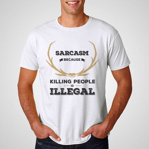 Killing people is Illegal Printed T-Shirt