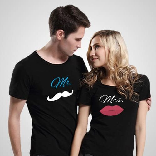 Mr Mrs Printed T_Shirt