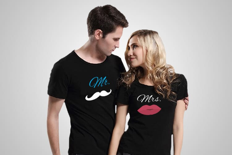 Mr Mrs Printed T_Shirt