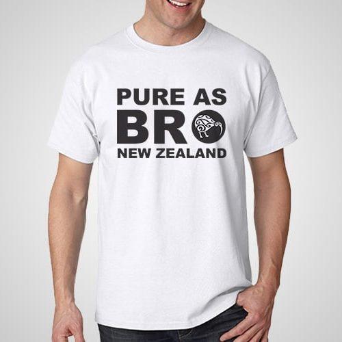 Pure As Bro Printed T-Shirt