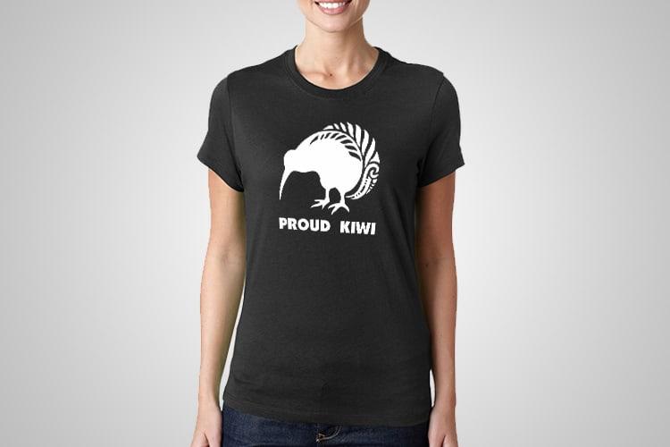 Proud Kiwi Printed T-Shirt