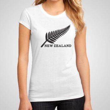 New Zealand Fern Leaf Printed T-Shirt