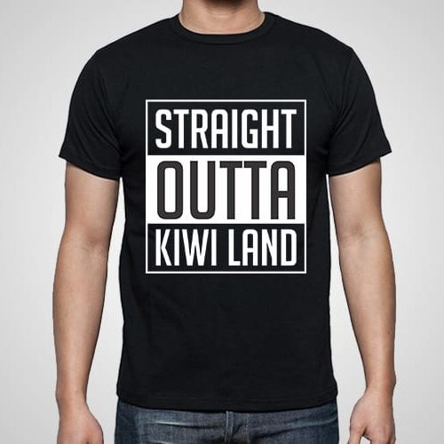 Straight Outta Kiwiland Printed T-Shirt