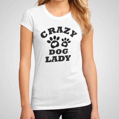 Crazy Dog Lady Printed T-Shirt