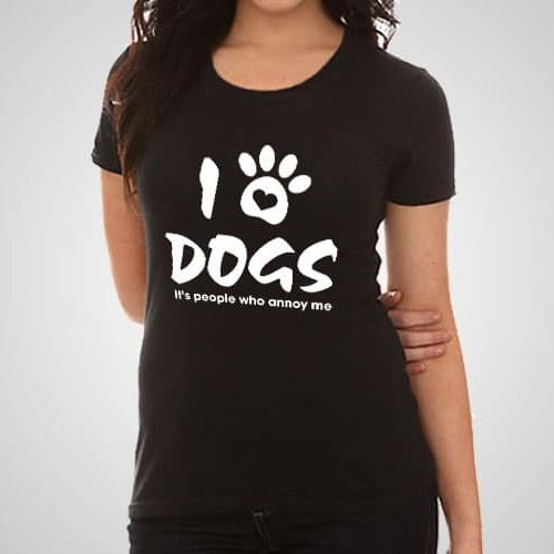 I Love Dogs Printed T-Shirt