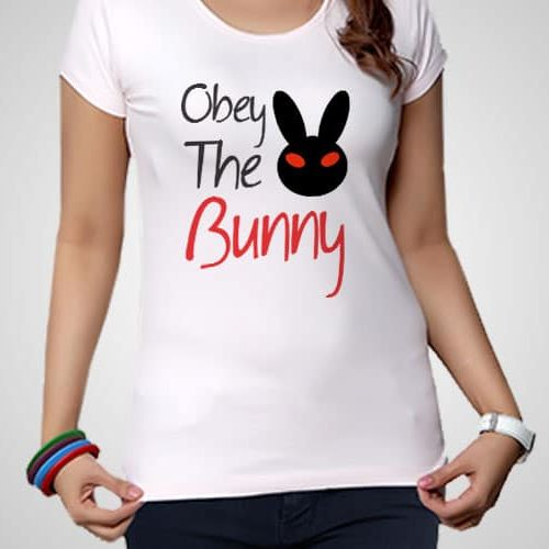 Obey The Bunny Printed T-Shirt