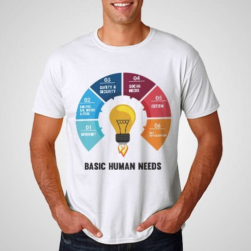Human Needs Printed T-Shirt