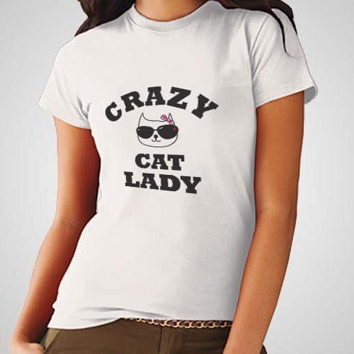 Crazy Cat lady Printed T-Shirt
