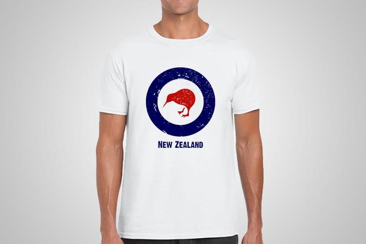 RNZAF Roundel Kiwi Printed T-Shirt
