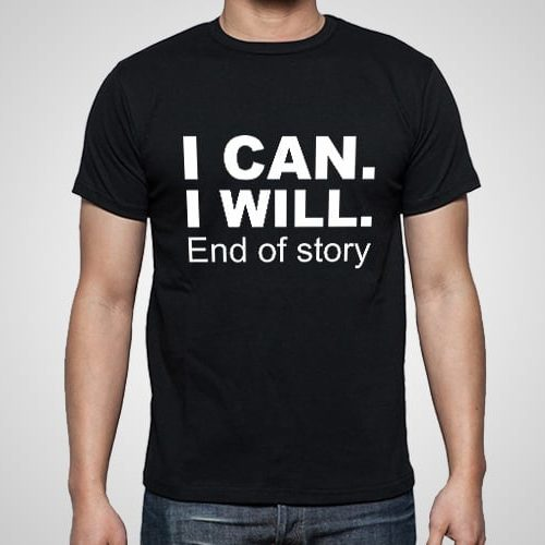 End of Story Printed T-Shirt