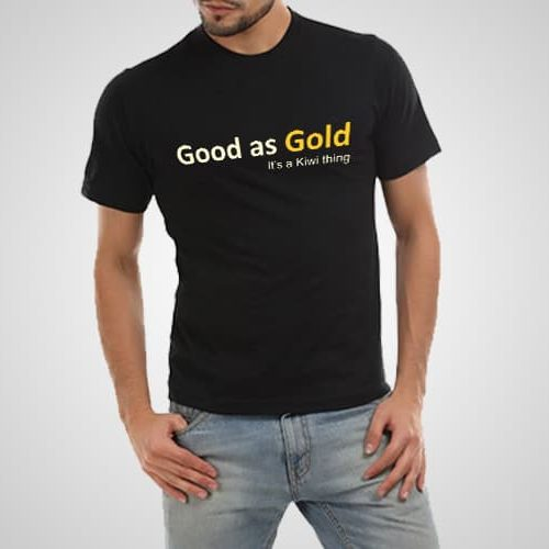 Good As Gold Printed T-Shirt