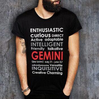 Gemini Positive Negative Printed T-Shirt