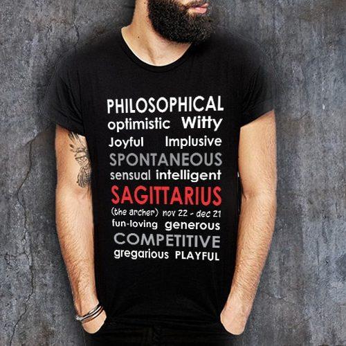 279a7993e Sagittarius Positive Negative Printed T-Shirt