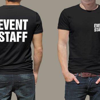 Event Staff Printed T-Shirt