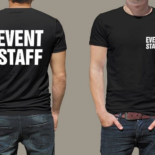 Event Staff Printed T-Shirt