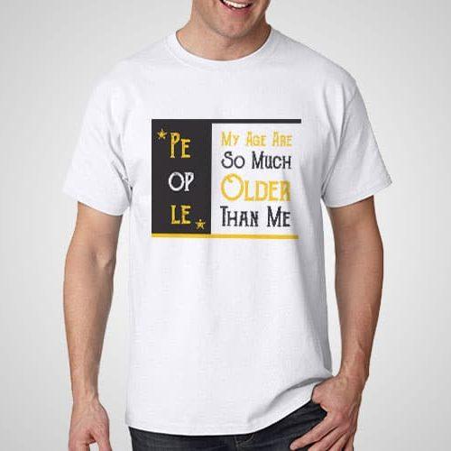 Older People Printed T-Shirt