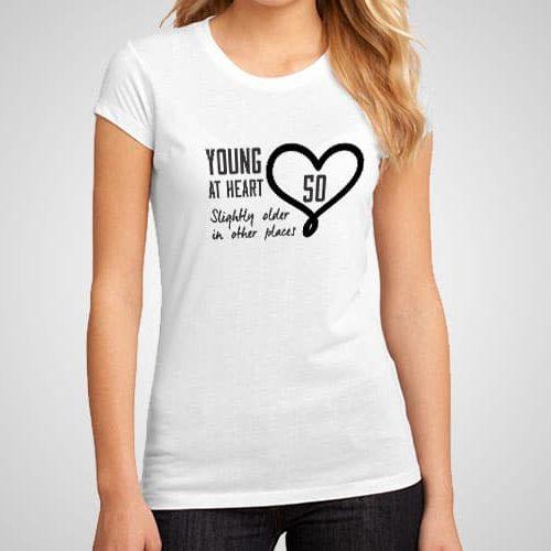 Young At Heart Printed T-Shirt