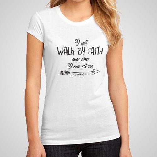 Faith Walk Printed T-Shirt