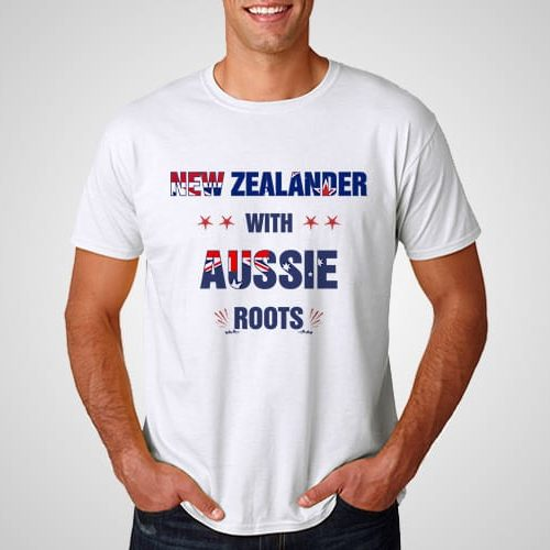 New Zealander With Aussie Roots Printed T-Shirt
