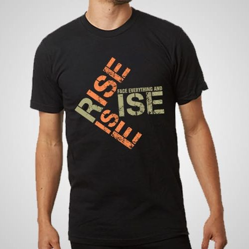 Face Everything And Rise Printed T-Shirt