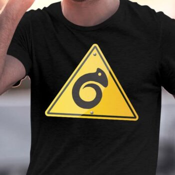 Kiwiana Carving Hazard Printed T-Shirt