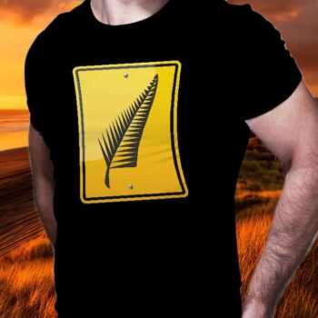 Fern Leaf Hazard Printed T-Shirt