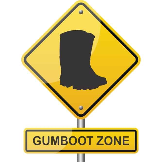 Gumboot Zone Hazard Printed T-Shirt