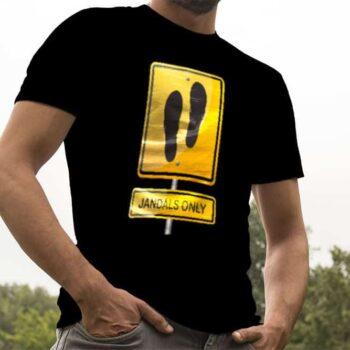 Jandals Only Hazard Printed T-Shirt
