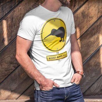 Kiwi Ahead Hazard Printed T-Shirt