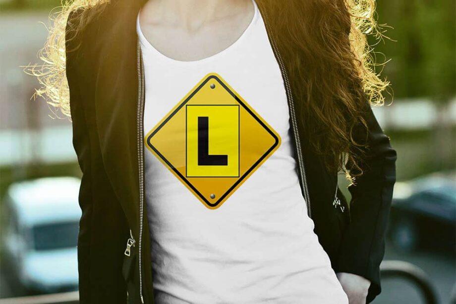 Learner Plate Hazard Printed T-Shirt