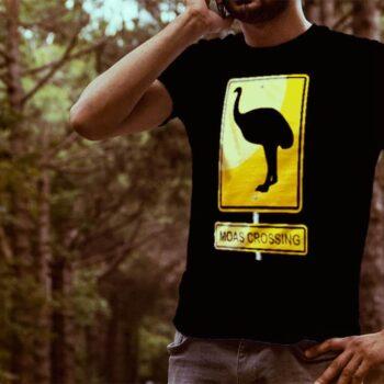 Moas Crossing Hazard Printed T-Shirt