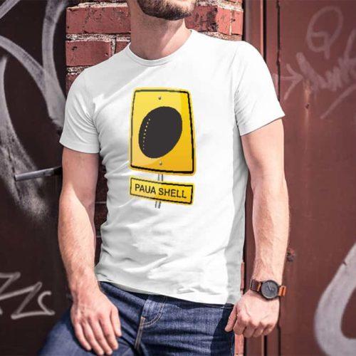 Paua Shell Hazard Printed T-Shirt