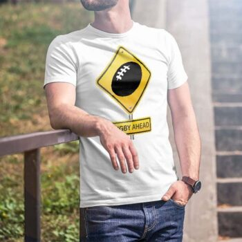 Rugby Ahead Hazard Printed T-Shirt