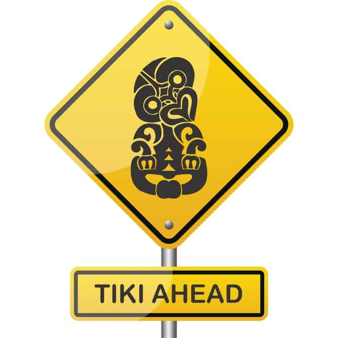 Tiki Ahead Hazard Printed T-Shirt