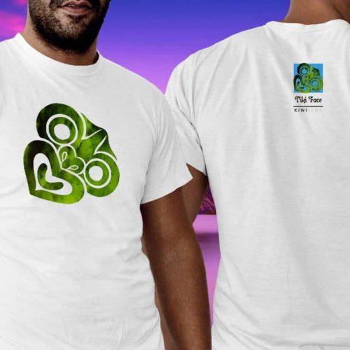 Tiki Face Kiwiizms Printed T-Shirt