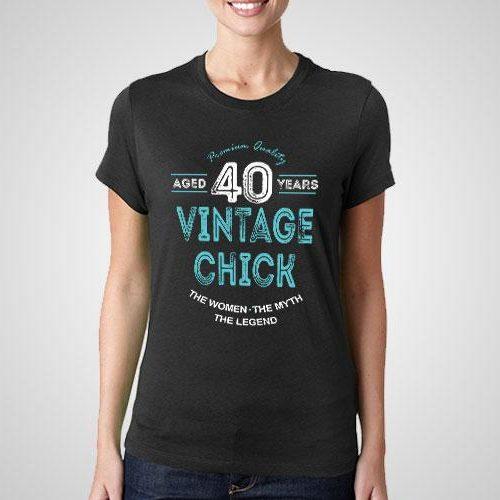 Vintage Chick Printed T-Shirt
