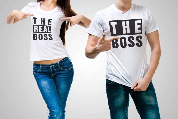 The Real Boss Printed T-Shirt