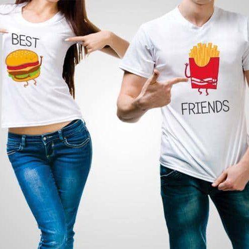 Best Friends Printed T-Shirt
