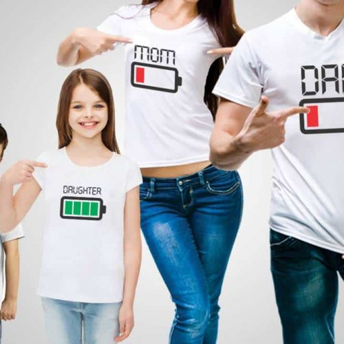 Family battery Power T-Shirts