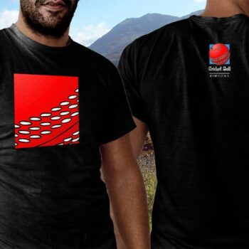 Cricket Ball Kiwiizms Printed T-Shirt