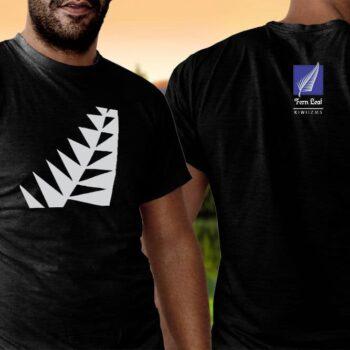Fern Leaf Kiwiizms Printed T-Shirt