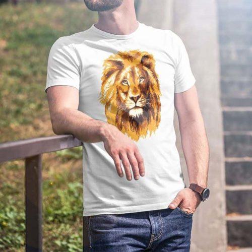 Lion Face Printed T-Shirt