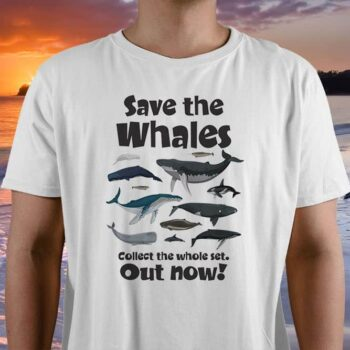 Save The Whales Printed T-Shirt