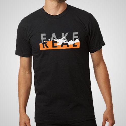 Fake Or Real Printed T-Shirt